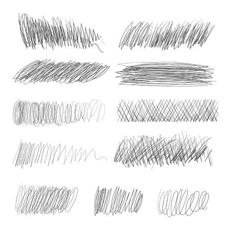 Pencil hatching. Vector illustration. Isolated on white background Illustration