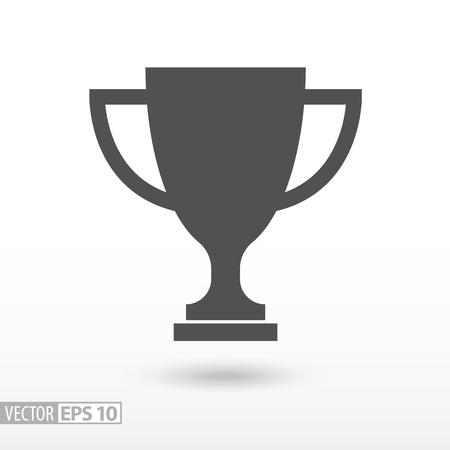 Champions cup flat icon. Sign trophy cup. Vector logo voor webdesign, mobiel en infographics. Vector illustratie eps10. Geïsoleerd op een witte achtergrond.