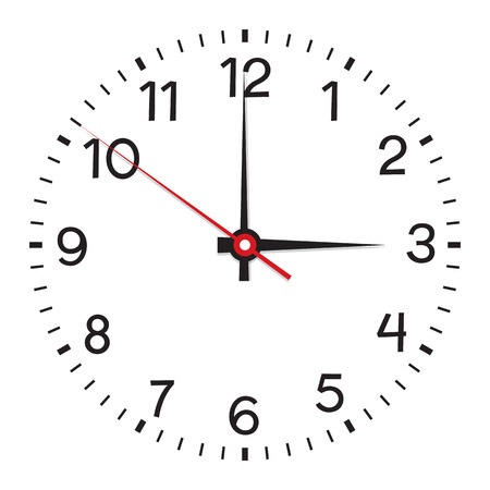 Clock face. Vector illustration. Isolated on white background Illustration