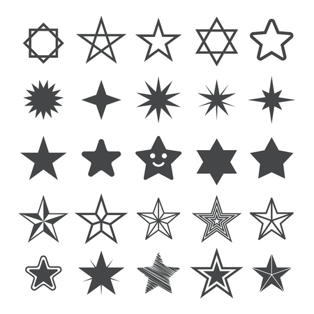 Star flat icon. Sign Star. Vector logo for web design, mobile and infographics. Vector illustration eps 10. Isolated on white background. Set
