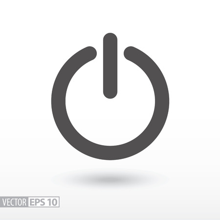 Shutdown flat icon. Sign Shutdown. On, Off button. Vector logo for web design, mobile and infographics. Vector illustration eps10. Isolated on white background.