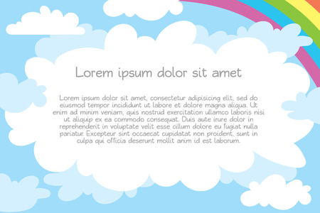 Children's template for advertising brochure. Ready for your message. Lorem ipsum. Vector illustration. Isolated on white background Vettoriali