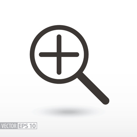 Magnifier flat Icon. Sign magnifying glass. Vector logo for web design, mobile and infographics. Illustration
