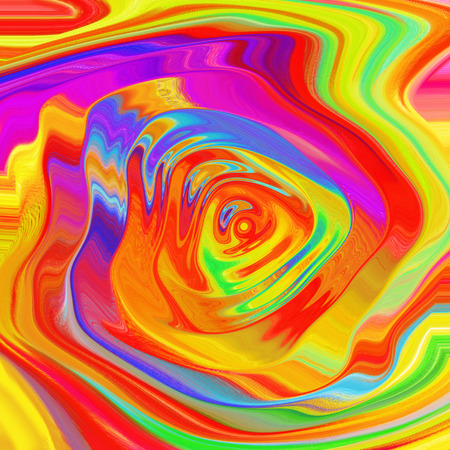 Colorful fractal. Abstract circle background. Circles wave. Abstract pattern.