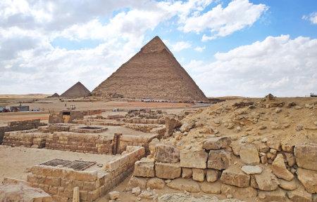 Giza Pyramid Complex. Africa, Egypt