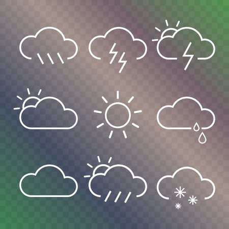 Weather vector outline icons
