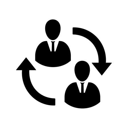 Staff turnover line icon for web, mobile and infographics.