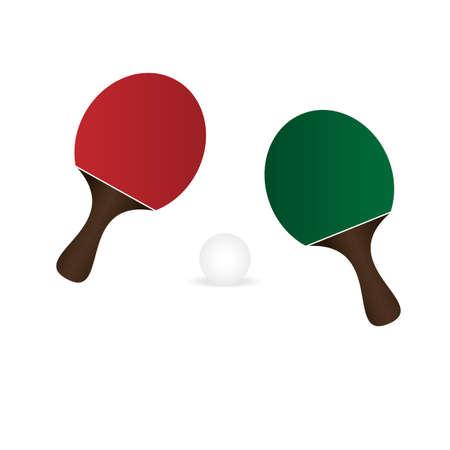 Rackets ball table tennis vector Vectores