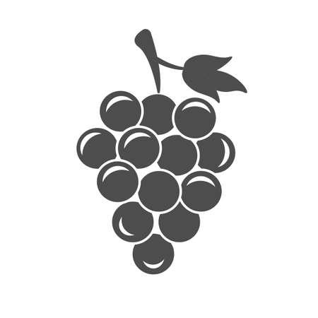 Grapes Icon In Flat Style Isolated Ilustración de vector