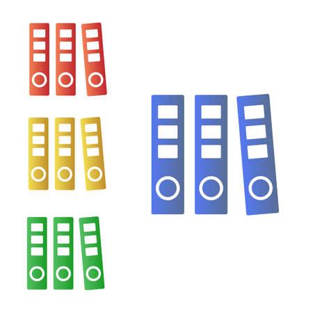 Folder Documents paper, multi-colored vector