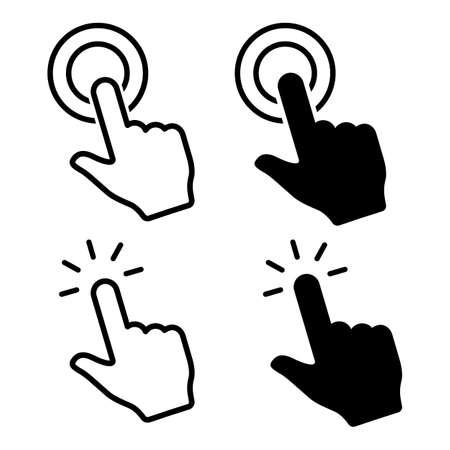 Hand click icon. Hand clicking. Vector Иллюстрация