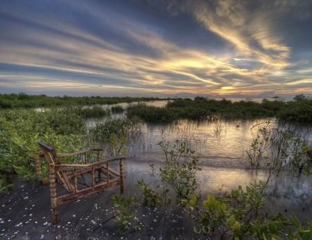 pleasent: A Pleasent Sunset Stock Photo