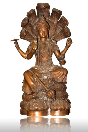 brass buddha statue photo