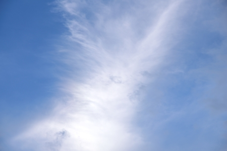 white cloud in sky on blue sky nature 写真素材