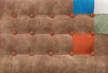 imitation: Pattern a patchwork in style Chesterfield, an imitation leather
