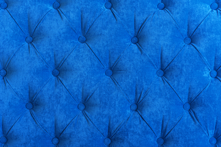 chesterfield: Blue background Chesterfield, fabric a velvet, for interiors and furniture