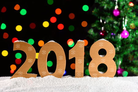 background for New Years design, 2017, bokeh Stock Photo