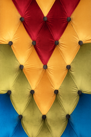 Decor Chesterfield from a multi-colored velvet