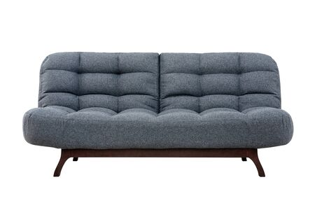 Modern sofa from gray fabric for rest