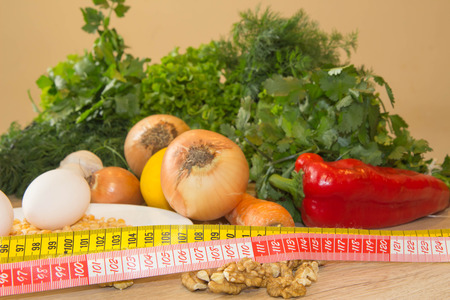 Fresh organic vegetables on the table. weight loss and healthy diet
