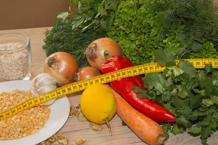 Different raw vegetables background. Healthy eating. weight loss and healthy diet