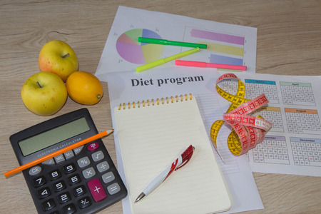 Concept diet. Lose weight by eating healthy vegetables. Vegetarian dieting. Low-fat diet Stock Photo