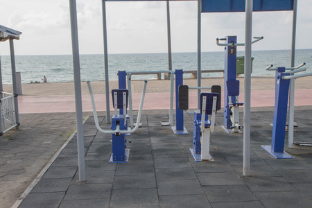 Fitness equipment,Gym Equipment Outdoor Suppliers. Outdoor Exercise Equipment near the beach. Lose weight on vacation