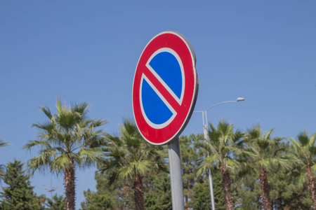 Speed Limit Sign on the road.Traffic Signs concept. Warning road sign on a street, Road sign informing