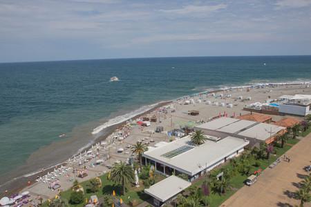 View From Ferris wheel Of Embankment Of The Georgian Resort Town Of Batumi