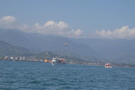 Batumi, Georgia. View From Sea to the city embankment