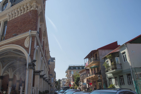 Batumi, Adjara, Georgia. Sunny Summer Day With Blue Sky Over Street. Urban Architecture In Batumi 写真素材