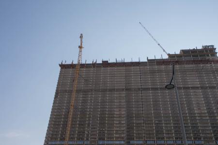 Modern civil engineering. Contemporary urban landscape. High rise building under construction Stockfoto