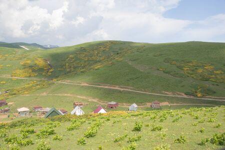 Famous tourist attraction. Location place Western Georgia, Georgia, Europe. Caucasus mountains. Beauty world Stock fotó