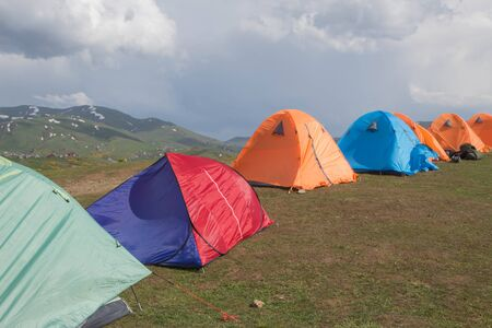This is the view base camp. It is located at a height of 2250 m above sea level surrounded by lesser peaks near Kobuleti