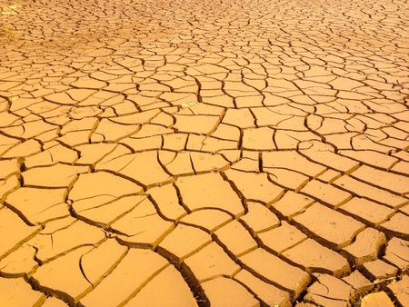parched: View of land parched and cracked Stock Photo