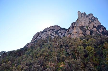 montserrat: Mountains of Montserrat, Catalonia, Spain Stock Photo