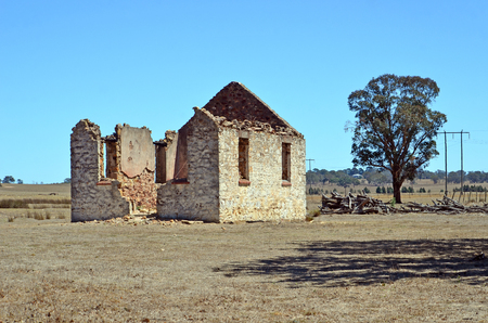 Historic abandoned St Marys Church ruin, Yarra, near Goulburn, NSW, Australia