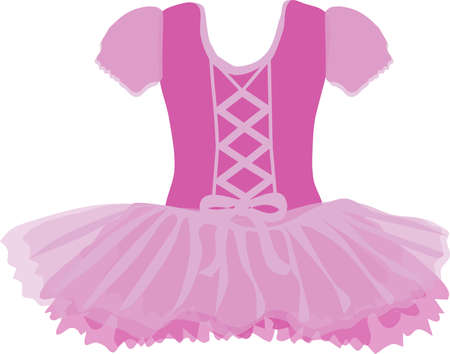 vector image of a tutu for a little ballerina in pink