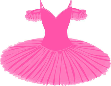 vector image of a tutu in pink on a white background