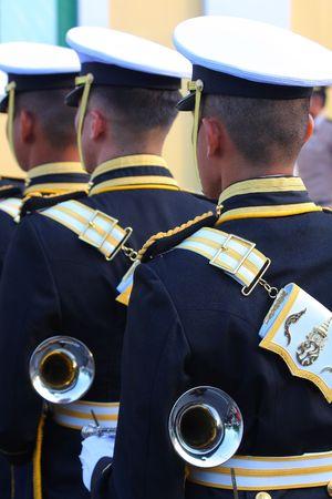 cadet blue: Thai Military Buglers