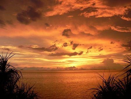 phang nga: Phang Nga Sunset Stock Photo