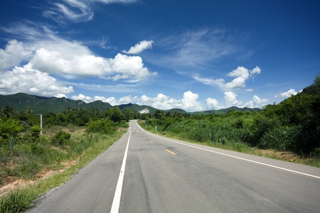 straight lines: Open road