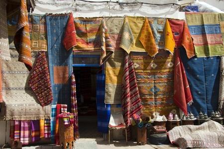 marrakesh: Negozio di tappeti, Essaouira, Marocco Archivio Fotografico