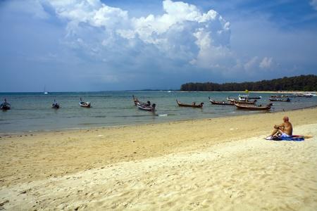 Beach scene, Nai Yang, Phuket, Thailand photo