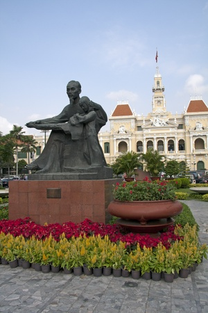 committee: Statue of Ho Chi Minh and Peoples Committee Building, Saigon