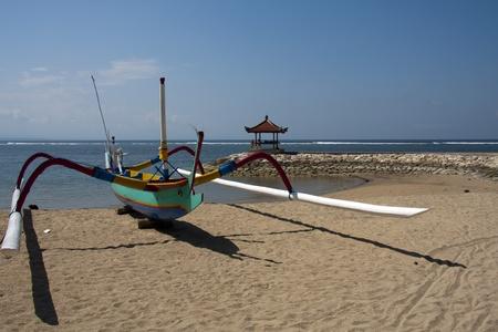 sanur: Fishing boat, Sanur, Bali Stock Photo
