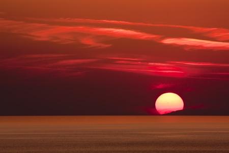 日没、アランヤ, トルコ