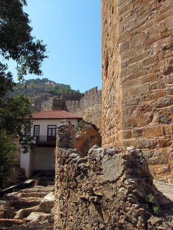 Castle walls Alanya, Turkey photo