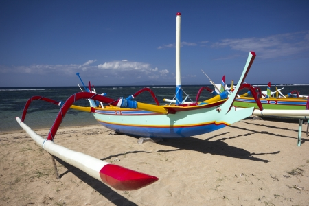 Boat on Sanur Beach, Bali photo