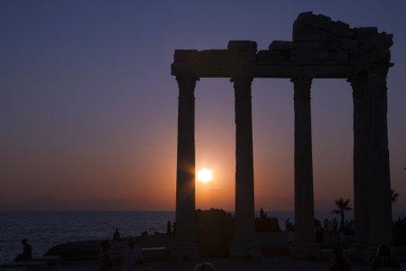 Sunset, Temple of Apollo, Side, Turkey